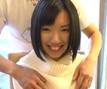 潮吹きで恥ずかしがる黒髪美少女りぼん(19)